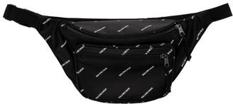 Balenciaga (バレンシアガ) - Balenciaga ブラック ロゴ エクスプローラー ベルト バッグ