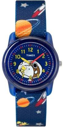 Timex Boys Time Machines x Peanuts: Snoopy in Outer Space Watch, Elastic Fabric Strap