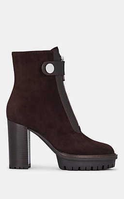 Gianvito Rossi Women's Julian Suede Ankle Boots - Dk. brown