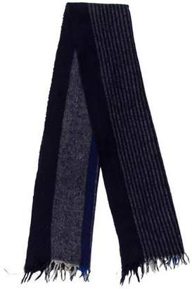 Paco Rabanne Striped Lambswool Scarf