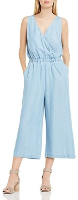 VINCE CAMUTO Chambray Wide Leg Jumpsuit $139 thestylecure.com