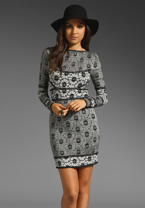 Free People Botanical Forest Body Con Dress
