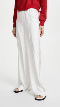 GOEN.J Lace Striped Track Pants