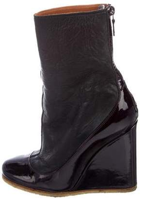 Lanvin Mid-Calf Wedge Boots