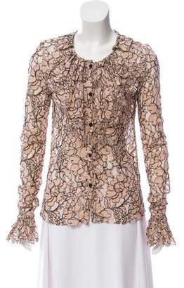 Chanel Chantilly Lace Long Sleeve Top