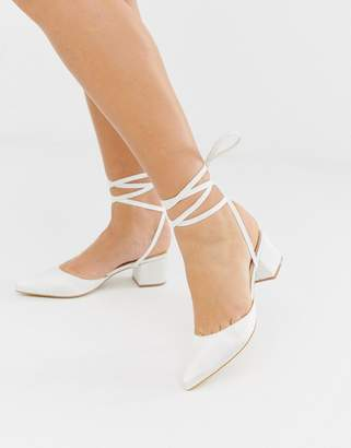 57ba7422a901 Be Mine Bridal Anya ivory satin mid heeled shoes