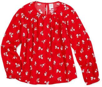 Arizona Girls Scoop Neck Long Sleeve Blouse Preschool / Big Kid