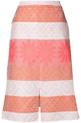 Julien David patterned A-line skirt