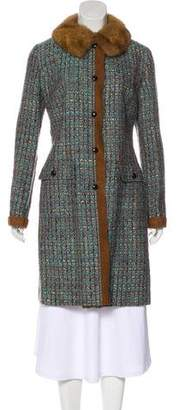 Dolce & Gabbana Virgin Wool Tweed Coat