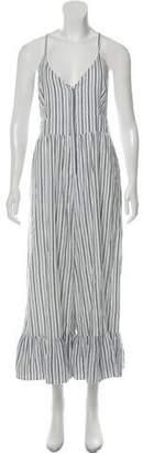 LoveShackFancy Striped Sleeveless Jumpsuit