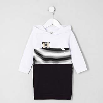 River Island Mini girls Black 'happiness' jumper dress