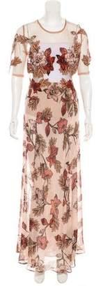 For Love & Lemons Silk Maxi Dress