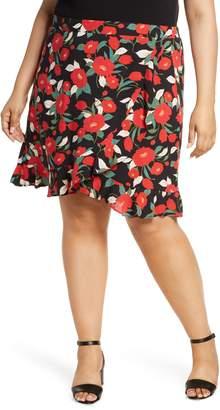 Gibson x Hot Summer Nights Two Peas Ruffle Faux Wrap Skirt