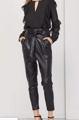 Greylin Vegan Leather Paper Waist Pant
