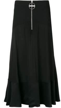 Givenchy ring zip midi skirt