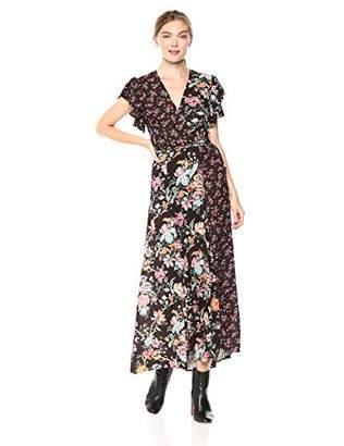 French Connection Women's Francis Drape Maxi Wrap Dress, 6