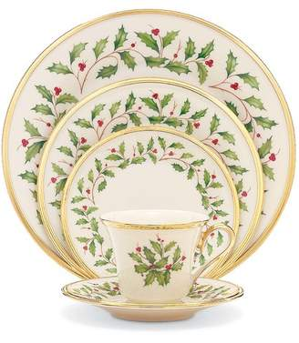 Lenox Holiday Bone China 5 Piece Place Setting, Service for 1