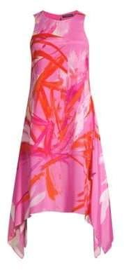 Josie Natori Prism Handkerchief Hem Dress