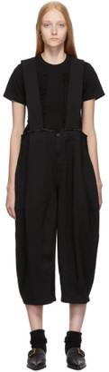 Comme des Garcons Black Wide Suspender Trousers