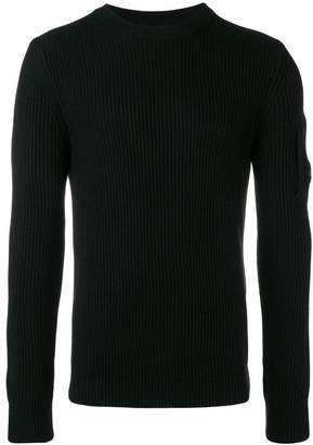 C.P. Company ribbed long-sleeve fitted sweater