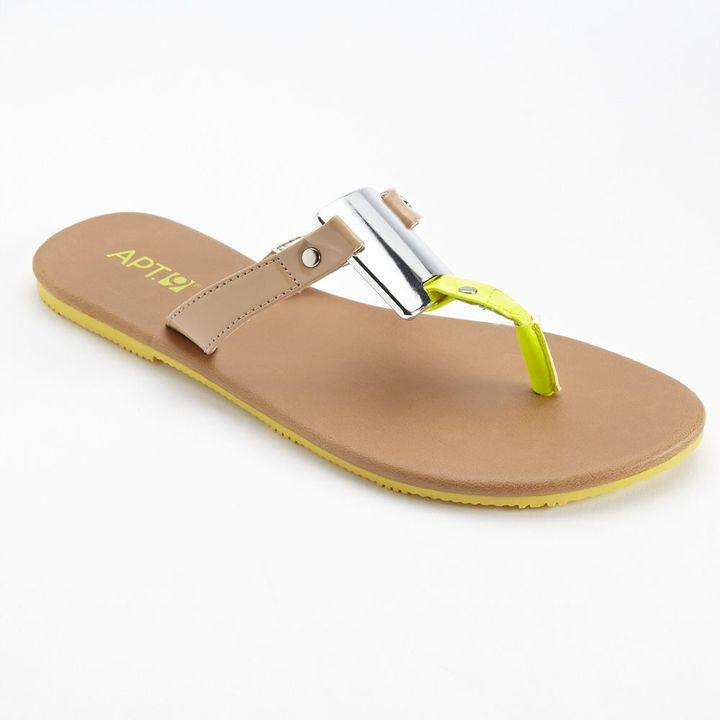 Apt. 9 shield flip-flops
