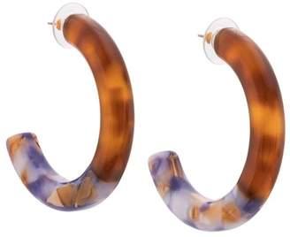 Lele Sadoughi tortoiseshell hoop earrings