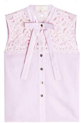 Marina Hoermanseder Cotton Blouse with Lace