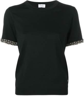 Salvatore Ferragamo contrast-hem T-shirt