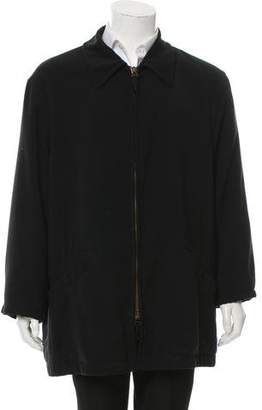 Giorgio Armani Woven Zip-Up Jacket