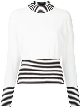 ASTRAET striped mock neck jumper