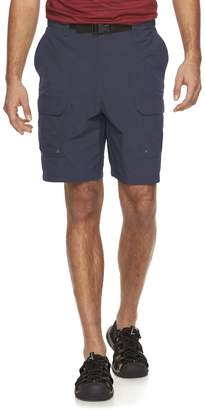 Croft & Barrow Men's Synthetic Side Elastic Belted Cargo Shorts
