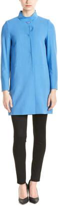 Cinzia Rocca Tailored Silk & Wool-Blend Coat