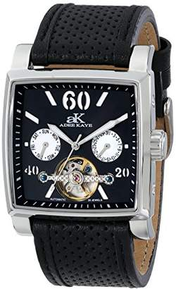 Adee Kaye Unisex ak9043-M/BK Wall Street Analog Display Automatic Self Wind Watch