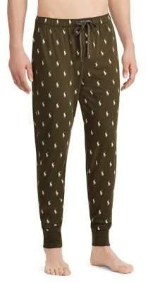 Ralph Lauren Pony Print Cotton Jogger Pants