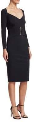 Chiara Boni Millie Zipper Sheath Dress