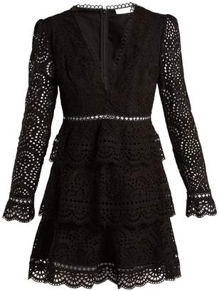 Zimmermann Tali embroidered cotton dress