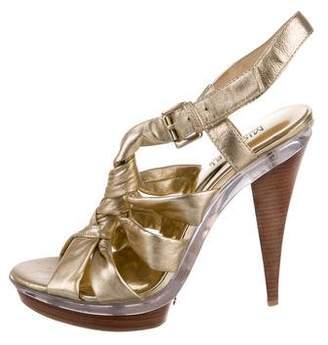 59ff3d80346 MICHAEL Michael Kors Metallic Leather Women s Sandals - ShopStyle