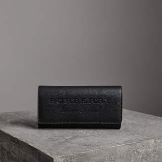 Burberry (バーバリー) - Burberry エンボストレザー コンチネンタルウォレット