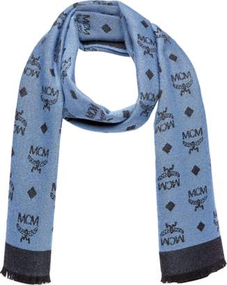 MCM Monogram Jacquard Wool Stole