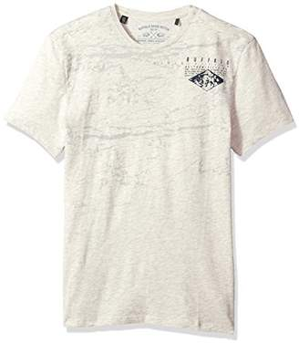 Buffalo David Bitton Men's Tibuff Short Sleeve Crewneck Fashion Graphic T-Shirt