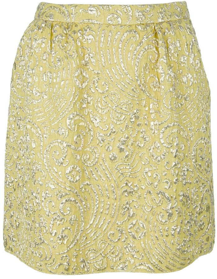 Dolce & Gabbana Embroidered A line skirt