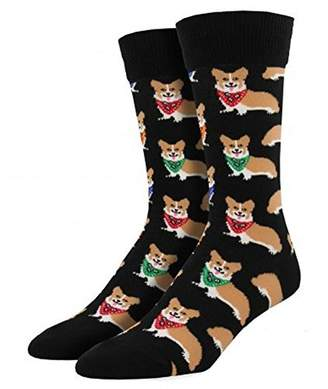 Corgi Socksmith Mens' Novelty Crew Socks 1 pair
