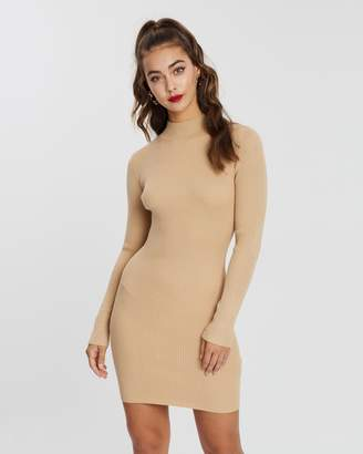 Missguided High-Neck Knitted Mini Dress