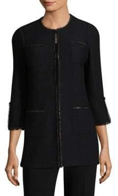 St. John Long Boucle-Knit Jacket