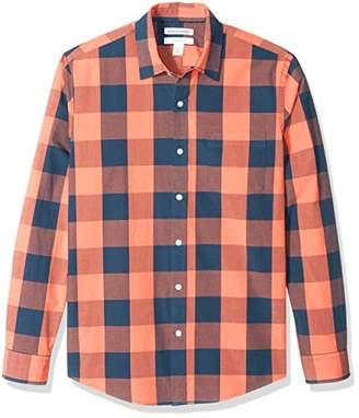 74ae77ba2 Amazon Essentials Slim-fit Long-Sleeve Check Shirt Button