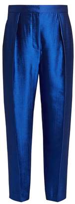 Roksanda - Surikov High Rise Peg Leg Trousers - Womens - Mid Blue