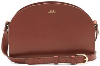 A.P.C. Half Moon leather cross-body bag $333 thestylecure.com