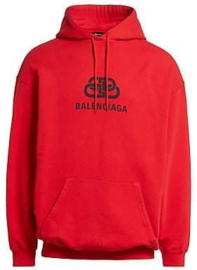 Balenciaga Men's New BB Logo Hoodie