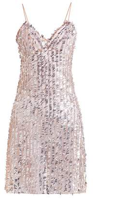 Ashish Sequin Embellished Sheer Slip Dress - Womens - Beige