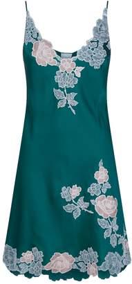 Carine Gilson Embroidered Silk Chemise